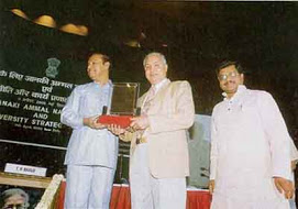 Description: Receiving Janki Ammal National Award