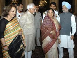 Description: with President & PM of India